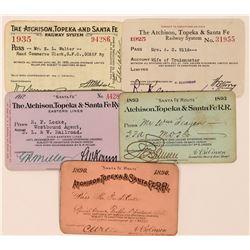 Atchison, Topeka & Santa Fe Railroad Annual Passes  (113445)