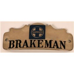 Atchison, Topeka and Santa Fe Railway Brakeman Cap Badge  (113419)