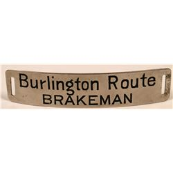 Chicago, Burlington and Quincy Railroad / Burlington Route Brakeman Cap Badge  (113414)