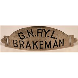 Great Northern Railway Brakeman Cap Badge  (113412)