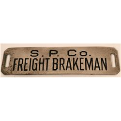 Southern Pacific Railroad Freight Brakeman Cap Badge  (113400)
