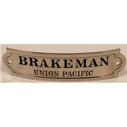 Union Pacific Railroad Brakeman Cap Badge  (113402)