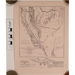 Oregon & Upper California, Gold Rush Map Print  (120696)