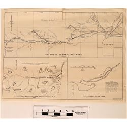Colorado Central Railroad Map 1885  (121151)