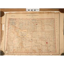 Wyoming State Map from 1892  (120886)