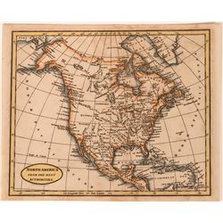 Map of North America 300 years old  (113585)