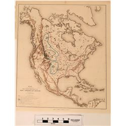 The Map of the Extermination of the American Bison 1889 Julius Bien  Co.  (120626)