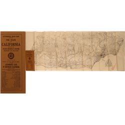 Automobile Road Map of California 1915  (120882)