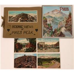 Pikes Peak, Colorado Springs, Manitou Early Tourist Brochures and Postcards (9 pieces)  (120940)