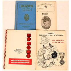 Fire Department Medal, Emblem & Badges Publications (5)  (122293)