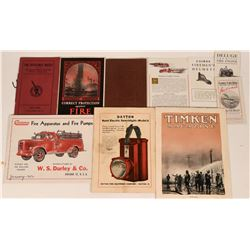U.S. Fire Department Fire Apparatus, Pumps, Equipment Supply Catalogs (10)  (122291)
