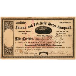 Suisun & Fairfield Water Company Stock  (118422)