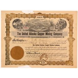 United Alaska Copper Mining Stock  (108192)