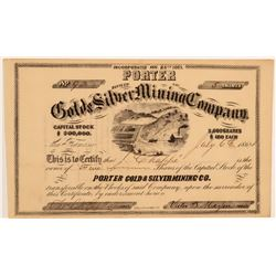 Porter Gold & Silver Mining Co. Stock Certificate  (106824)