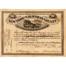 New York & Calaveras County Gold Mining Stock  (118428)