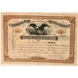 California Water & Mining Company Stock Certificate  (113573)