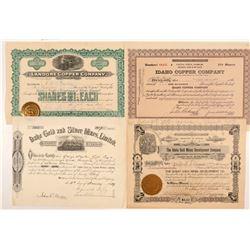 Idaho Mining Stocks (4)  (109516)