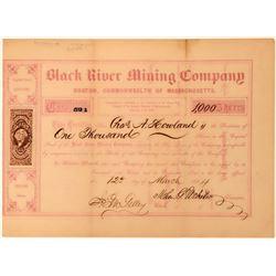 Black River Mining Co Stock, Gogebic Range,  Michigan, 1864  (118432)