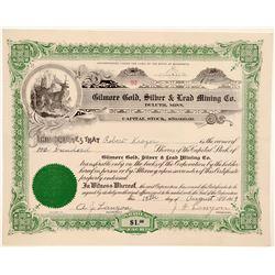 Gilmore Gold, Silver and Lead MC Stock: Duluth, Minnesota  (105822)