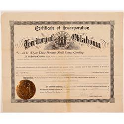 Radersburg, MT Gold Certificate of Incorporation  (108174)