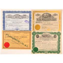 Montana Mining Stocks (4)  (109542)