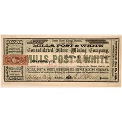 Mills, Post & White Consolidated Silver Mining Company  (110855)