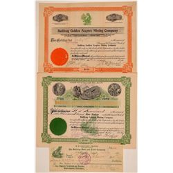 Bullfrog Vignette Pieces: Check and Two Stock Certificates  (110822)