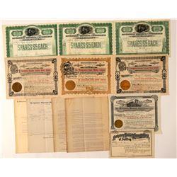 Montgomery / Shoshone Bullfrog Mining Stock Collection  (101635)
