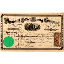 Plymouth Silver Mining Co Stock, Lander County, Nevada, 1869  (118433)