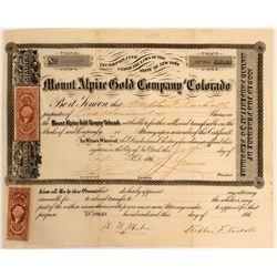 Mount Alpine Gold Co. of Colorado  (110842)