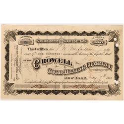 Crowell Gold Mining Stock, North Carolina, 1880  (118448)