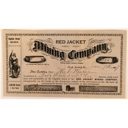 Red Jacket Mining Company Stock Certificate  (113596)