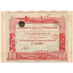 Russian/French Mining Stock with Fantastic Vignettes  (108173)