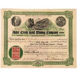 Alder Creek Gold Mining Company, Limited Stock, Dakota, 1902  (118443)