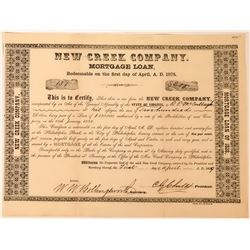 New Creek (Coal) Company Mortgage Loan Signed by C.G.Childs, Noted Phila. Engraver, 1859  (118436)