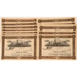 Sargasso Oil Company Stock Certificates, Kern County, 1901- Group of 18  (118420)
