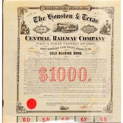 The Houston & Texas Central Railway Co Stock  (101305)