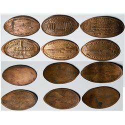 Chicago Worlds Fair Elongated Pennies  (121382)