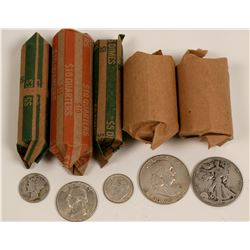 Silver U.S. Coin Roll Type Set  (119793)