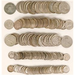 Silver U.S. Coin Roll Type Set  (119794)