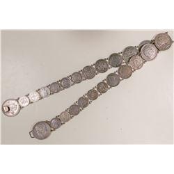 Spectacular Silver Rare Coin Belt  (102841)