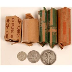 Type Collection U.S. Silver Coin Rolls  (119785)