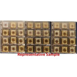 Uncirculated Encased Penny Collection  (119864)
