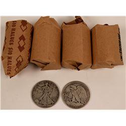 Walking Liberty Half Dollar Rolls  (119790)