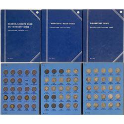 Whitman Dimes Albums: Barber, Mercury & Roosevelt  (121655)
