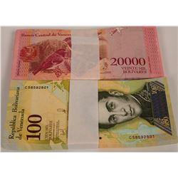 Venezuela Banknotes Uncirculated (2)  (121672)