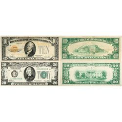 $10 Gold Certificate/  $20 Federal Reserve Gold Note  (119781)