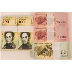 Venezuela Uncirculated Banknotes (5)  (122720)