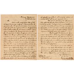 1859 Letter to SF Mint from Howell Cobb (Founder of the Confederacy)  (113621)