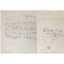 Letter Asking for 2,000 Five Dollar notes of the Exchange Bank of Buffalo  (108454)